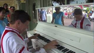 "Jim - Ragtime pianist plays ""The  Black & White Rag"""