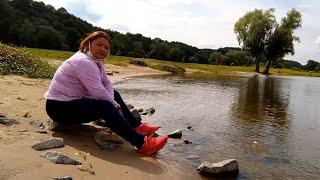 เบื่อๆผ่อนคลายริมแม่น้ำเอเบลเดินดูชนบทเมืองเก่าแถวบ้านกับเมียฝรั่งเยอรมัน.Hitzacker (Elbe) 5/7/20