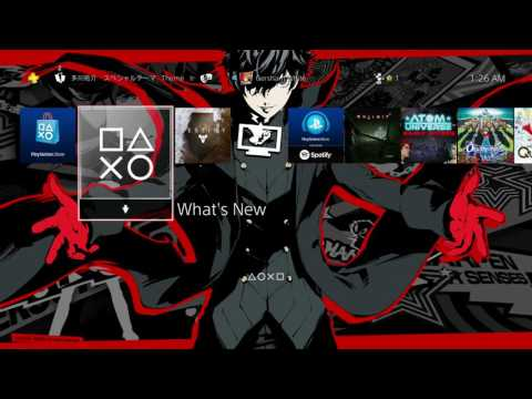 Persona 5 Dyanamic Themes On PS4!!