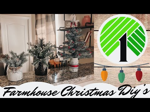Dollar Tree Christmas DIY 2019 | Christmas Farmhouse Home Decor | Glass Jars Ideas