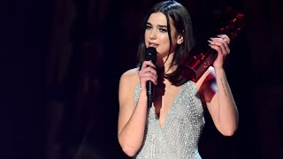Brit awards 2018: Dua Lipa's speech after winning award for British female solo artist