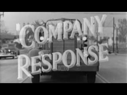 LA Fire Department: Company Response circa 1950 Educational Documentary WDTVLIVE42 - The Best Docume
