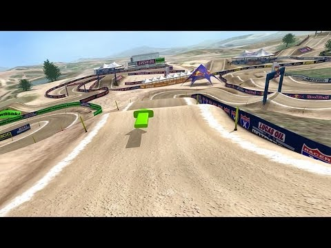 2014 Hangtown Motocross Animated Track Map Rider's POV