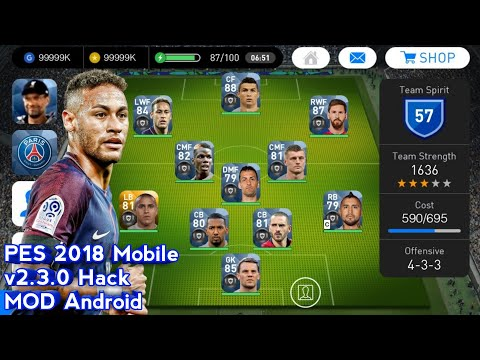 PES 2018 Mobile V2.3.0 Hack Mod Android 20 Black Ball Players Pre Added