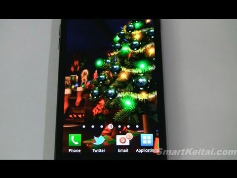 christmas hd live wallpaper for android reviewed on sprint galaxy s ii - Christmas Hd Live Wallpaper