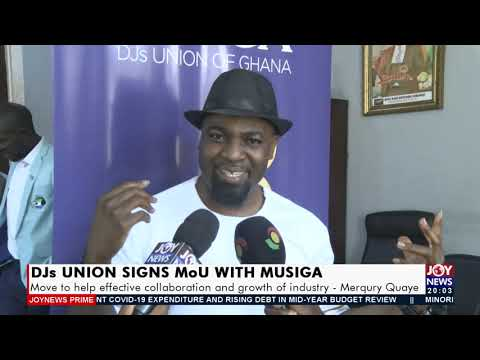 DJs Union signs MoU with MUSIGA -  Joy ShowBiz Prime (29-7-21)