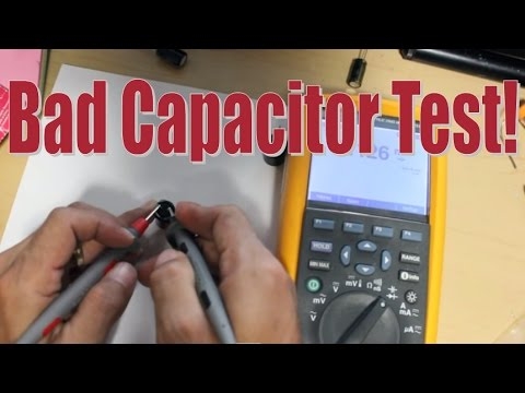 Testing a BAD Capacitor  with Multimeter on Your Power Suppply Board