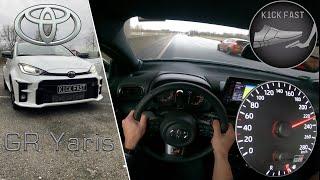 Toyota GR Yaris 1.6L | 2020 |  on German Autobahn | 261 HP