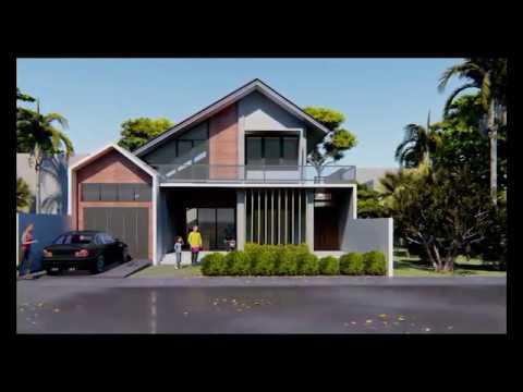 desain rumah minimalis tropis di tanah 200 m2, cocok untuk