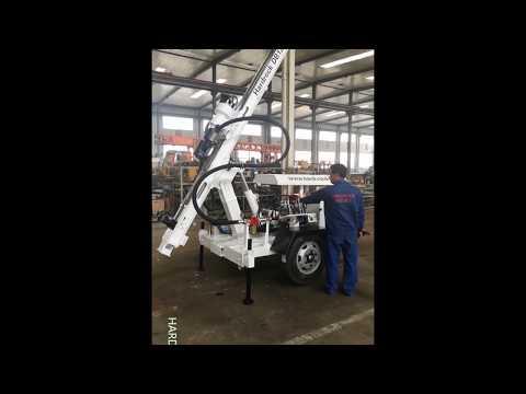 Borehole drilling machine manufacturer Demonstration DB