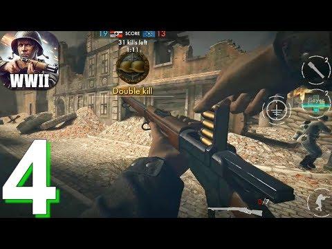 World War Heroes: WW2 Shooter Walkthrough Part 4 / Android IOS Gameplay HD