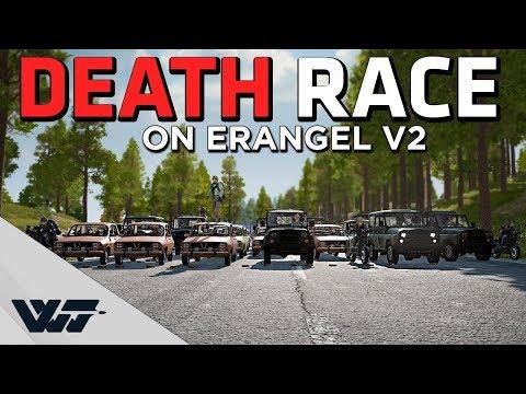 CRAZY DEATH RACE ON ERANGEL V2 - The First Ever Death Turismo On The New Erangel - PUBG