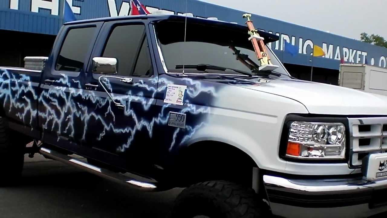 custom 1995 blue ford f350 youtube