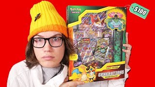 Opening a $100.00 Pokemon Charizard Generations Premium Box!