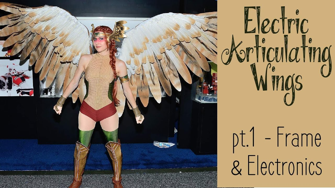 14d6b3ffc DIY Electronic Wings - pt.1 Frame & Electronics | Hawkgirl Cosplay Series