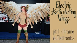 DIY Electronic Wings - pt.1 Frame & Electronics | Hawkgirl Cosplay Series