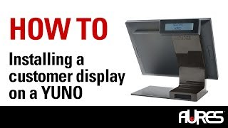 Customer display that show pricing information are a great addition to the aures yuno pos terminal. follow these simple instructions add one your yuno....