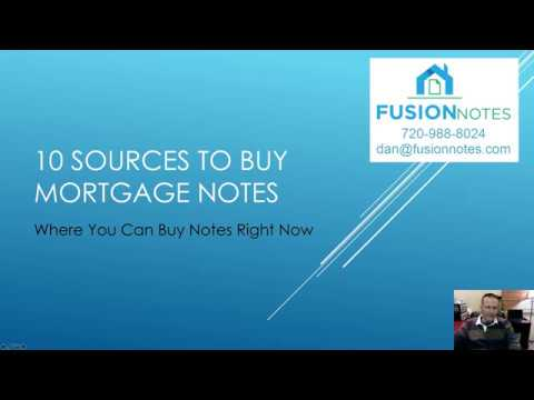 Where To Buy Mortgage Notes