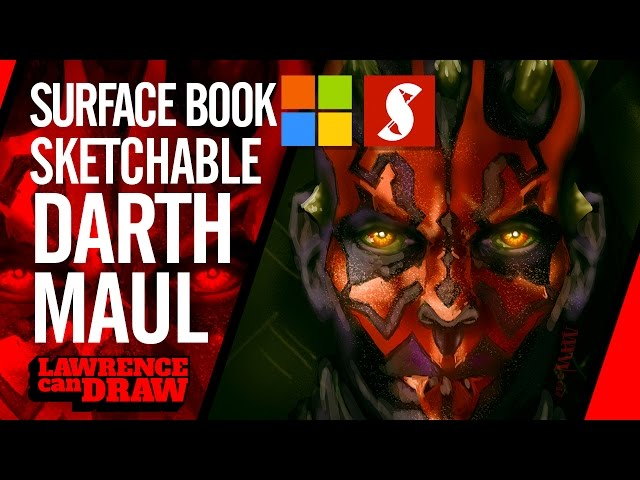 Surface Book art: How to draw Star Wars Darth Maul in Sketchable