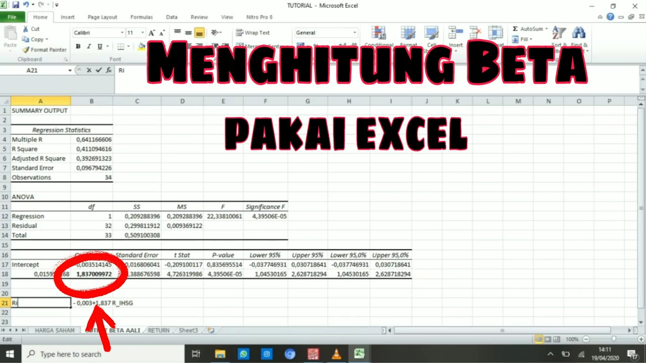 Cara Menghitung Beta Saham di Excel - Teknik Regresi Model ...