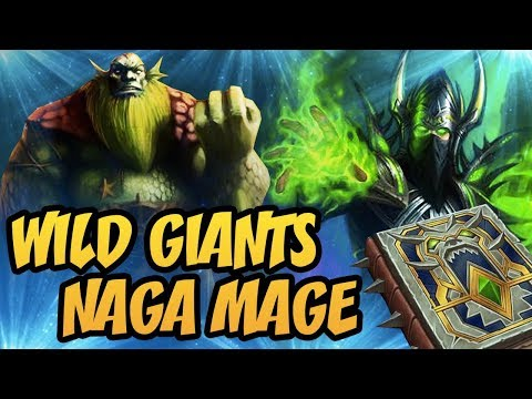 Hearthstone: Wild Giants Naga Mage ft. Archmage Arugal