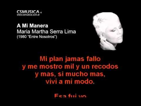 Maria Martha Serra Lima - A mi manera - Karaoke