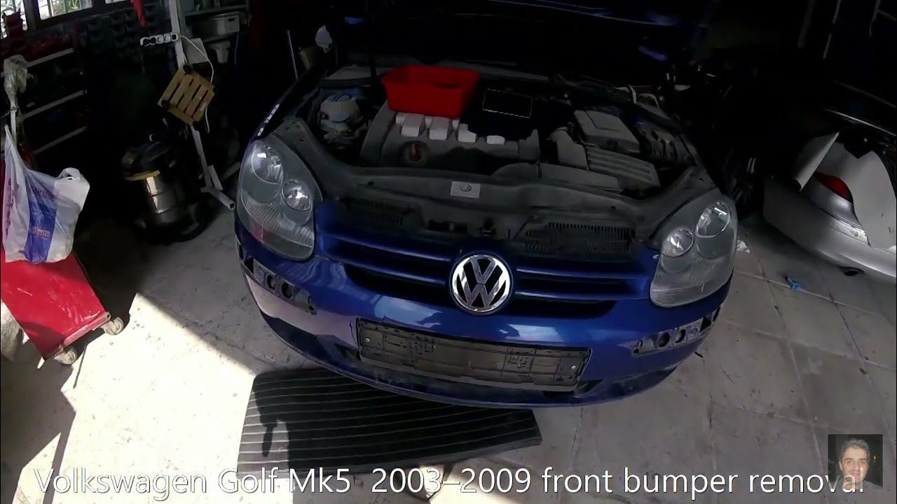 Volkswagen Golf Mk5 2003 2008 Front Bumper Removal Youtube