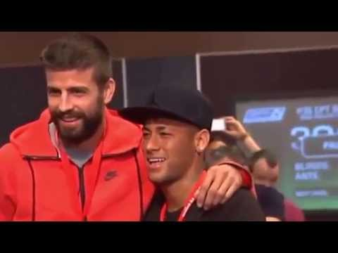 Pique and Neymar couple of poker in a publicity event