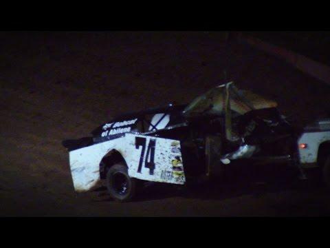 Rister Crash @ Abilene Speedway