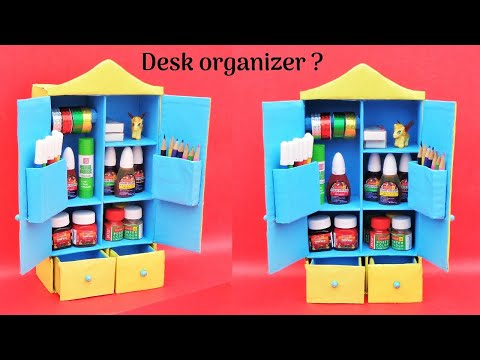 DIY Desk Organizer with cardboard box | Best out of waste | Space saving room organizer
