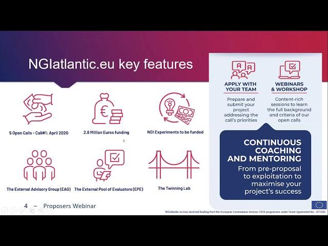 NGIatlantic.eu Proposers Webinar - 14th May 2020