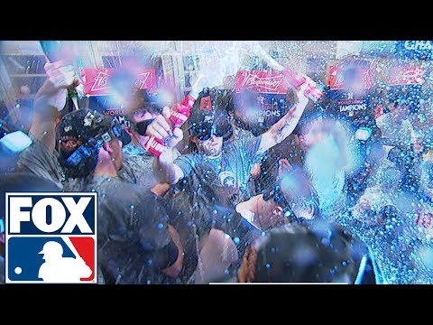 Houston Astros get the party started after Game 7   2017 MLB Playoffs   FOX MLB