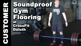 Soundproof Gym Flooring at CrossFit Duluth - w/ Weight Drop Test