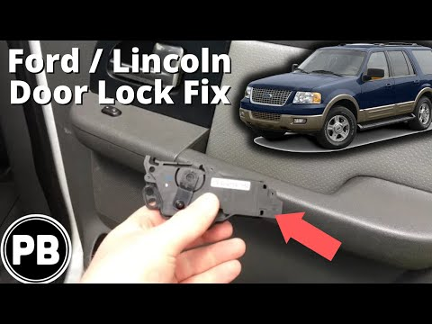 2003 2006 Ford Lincoln Expedition Navigator Rear Door Lock Fix