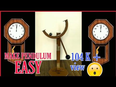 how to make pendulum | clock pendulum | homemade | paper art | free energy |