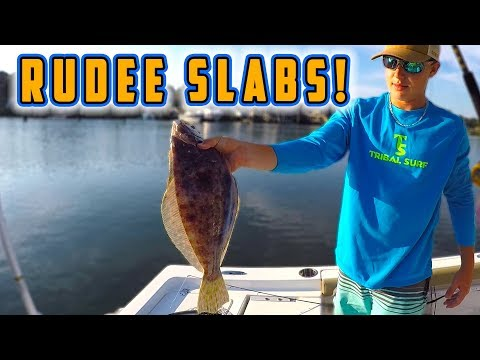 Finding KEEPER FLOUNDER At RUDEE INLET!!!