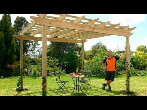 How To Build A Pergola Mitre 10 Easy As Diy Youtube