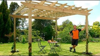 Wanting to find out how to build a pergola? Here