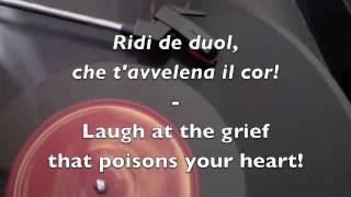 Vesti la giubba - 1907 Caruso recording - with English Translation