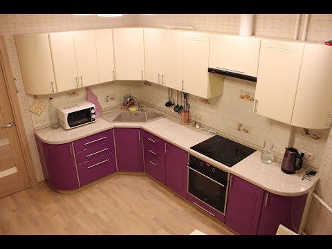 Кухня с эркером - ремонт с мебелью серия П-44т