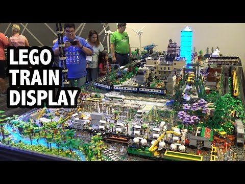 Massive LEGO Train City Built By 15 People | Texas Brick Railroad