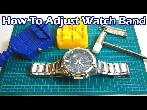 How To Adjust Resize Your Watch Band By Removing Links
