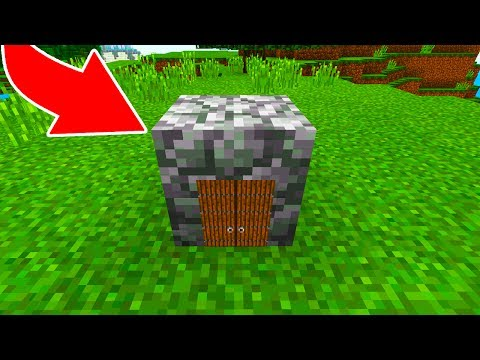 How to Live Inside a Cobblestone Block in Minecraft Pocket Edition