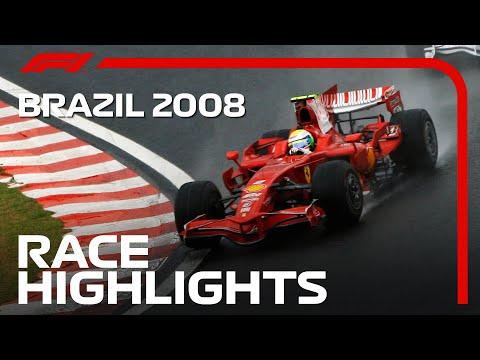 Lewis Hamilton Wins First World Title   2008 Brazilian Grand Prix   Race Highlights