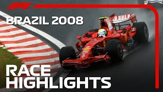 Lewis Hamilton Wins First World Title | 2008 Brazilian Grand Prix | Race Highlights