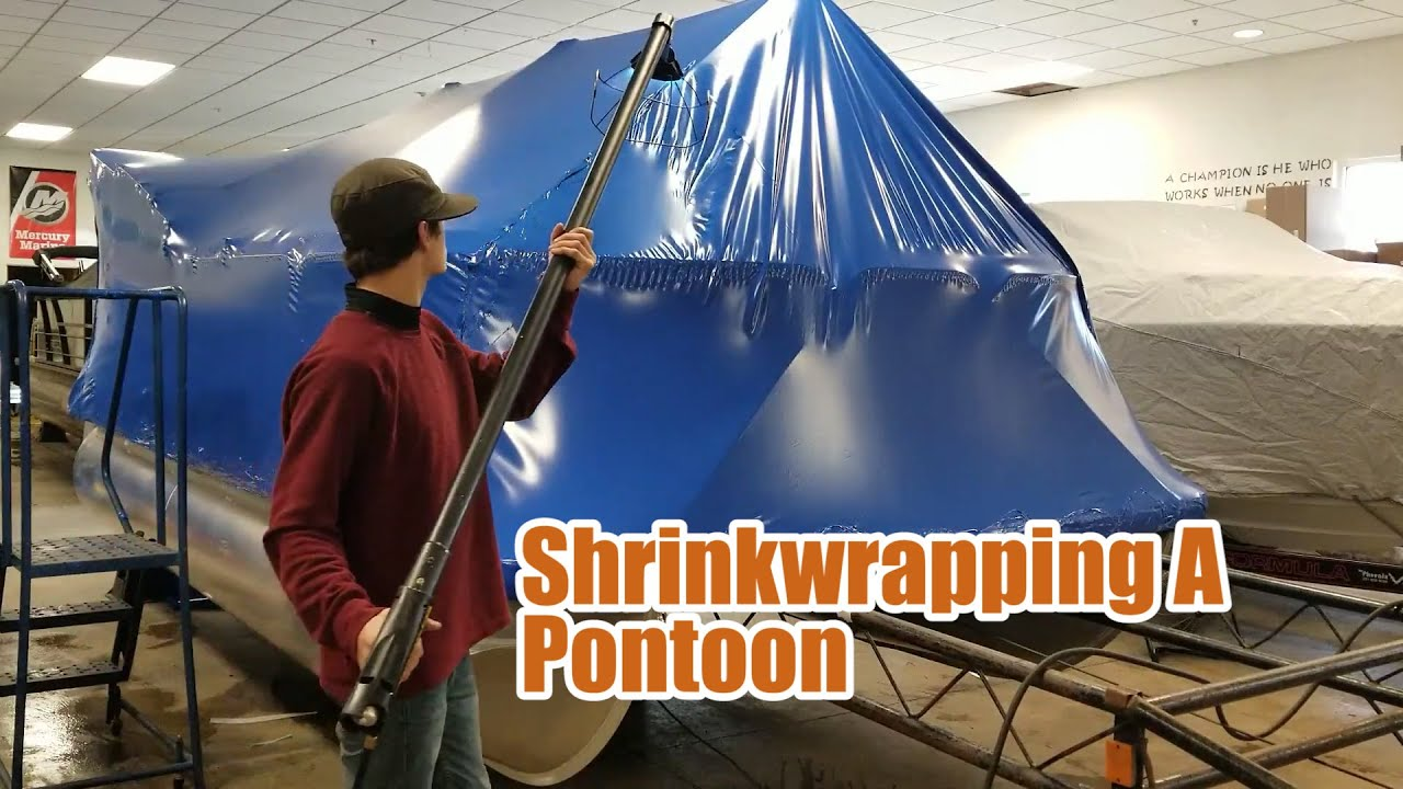 Shrinkwrapping A Pontoon Boat