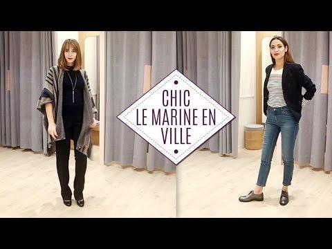 Défi fashion : trouver le bon look citadin en marine !