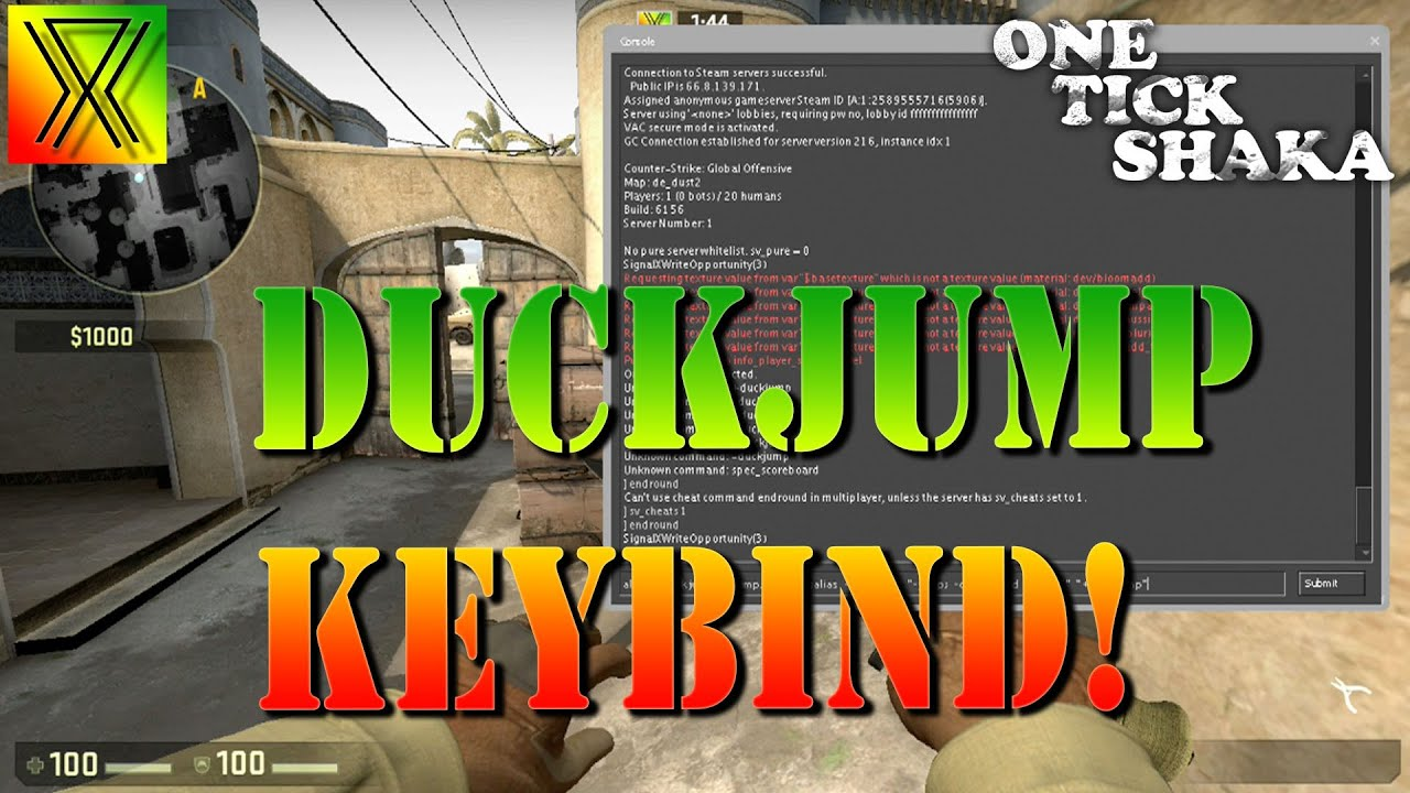 Never Miss Your Duckjump Again Duck Jump Keybind - CS:GO Tips and Tricks #7  + Giveaway Results!
