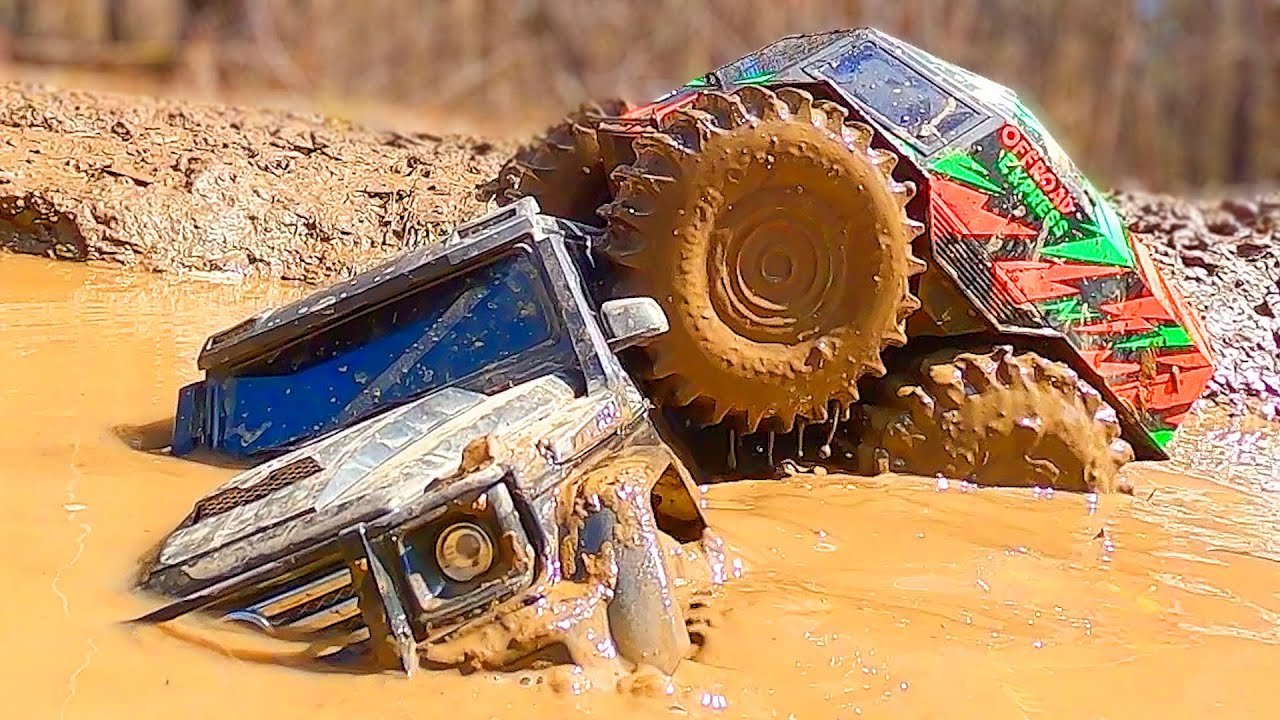 Sherp and Jeep and Mercedes Extreme MUD 4x4