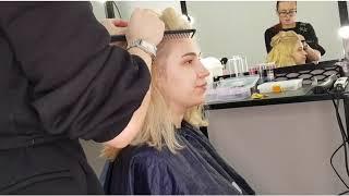 Шикарная прическа на короткие волосы